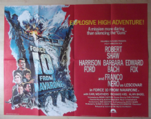Force 10 from Navarone, Original UK Quad Poster, Harrison Ford, Edward Fox, '78